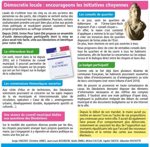 démocratie participative,référendum,commissions,budget participatif,open data,saint-dié,saint-dié-des-vosges,union pour saint-dié,ups saint-dié