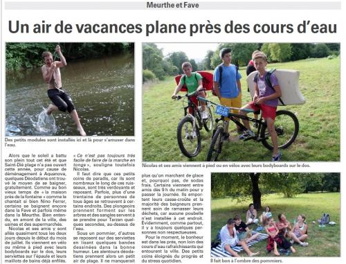 tourisme,camping,saint-dié plage